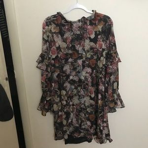 NWOT Ruffles Floral Dress